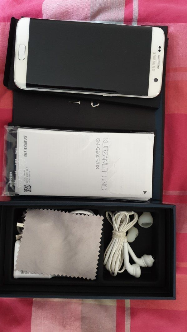 Samsung Galaxy S7 edge, weiß, 32 GB, wie neu