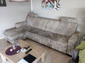 Polster, Sessel, Couch - Polstergarnitur mit Bettkasten und Schlaffunktion