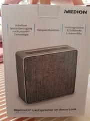 Bluetooth Lautsprecher Medion Retrolook