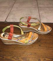 Bunte Keilabsatz Schuhe