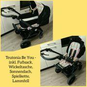 Kinderwagen Sportwagen Teutonia schwarz bunt