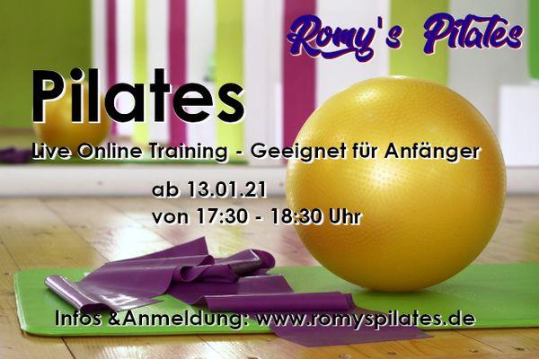 Pilatestraining live und online - Start