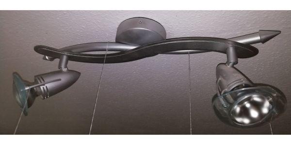 Deckenleuchte Schwenkbar hellgrau mit Leuchtmittel