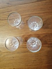 Likör Bleikristall Gläser mit Goldrand