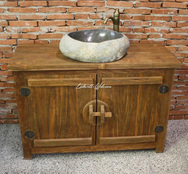 Waschtisch Badmöbel Kommode Teak Holz