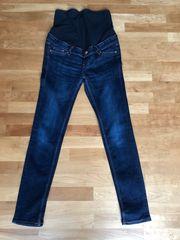 dunkelblaue Stretch Jeans Umstandshose Umstandskleidung