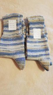 2 Paar handgestrickte Socke Gr
