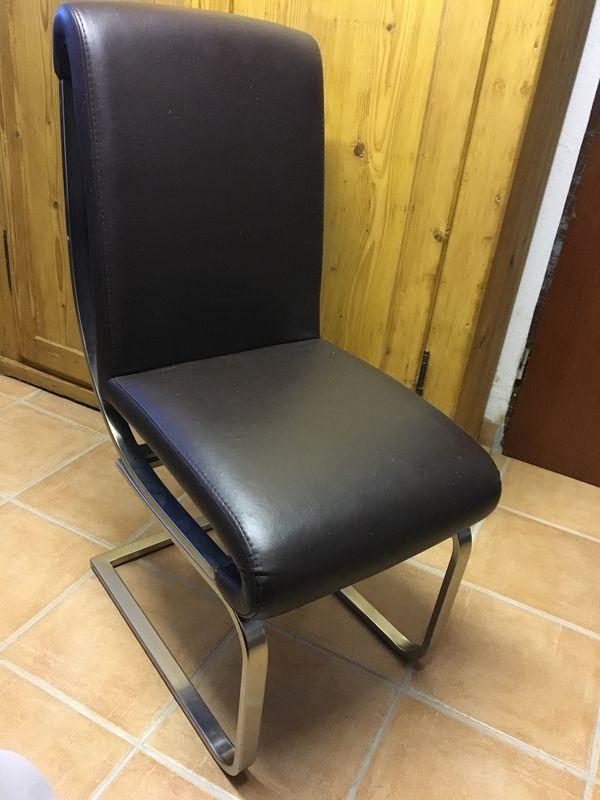 Stühle Freischwinger Stuhl Kunstleder Edelstahl In Langenzenn