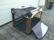 Faltbare Hundetransportbox aus Stoff