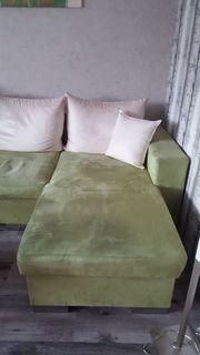 Couch mit Bettfunktion und Bettkasten