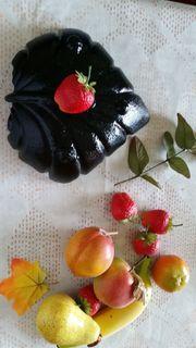Servier Schale mit Deko Obst