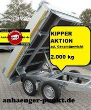PKW Anhänger KIPPER Rückwärtskipper TANDEM
