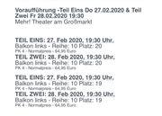 Theater Tickets für Harry Potter