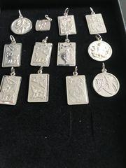 Sternzeichen-Ketten-Anhänger 925er Silber