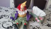 Porzellan Clown Puppe