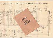 AEG 4075 WD Röhrenradio original