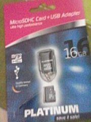 Speicherkarte mit USB Adapter
