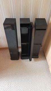CD Turm schwarz 3 Stück
