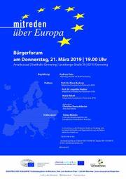 Mitreden über Europa - Bürgerforum in