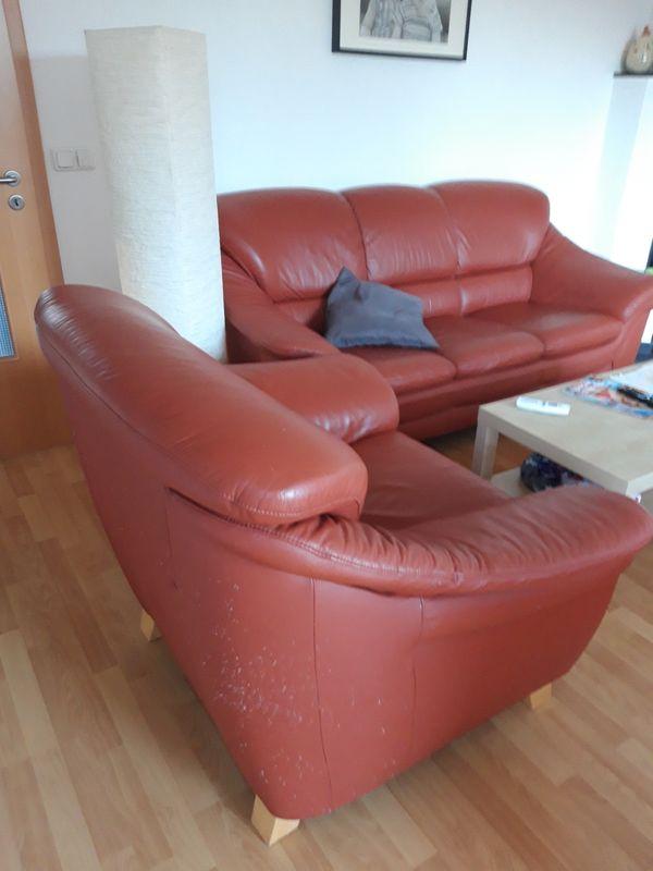 Leder Couch Garnitur In Gotha Polster Sessel Couch Kaufen Und