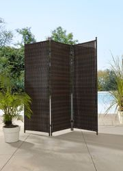 Paravent Sichtschutz Sichtschutzwand Wand Polyrattan