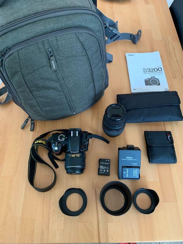 Nikon D3200 Spiegelreflexkamera mit Viel