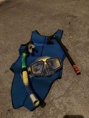 kurzer Tauchanzug Gr 36 Taucherbrille