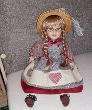Trachten-Porzellan-Künstler-Puppe H 26 39cm ca