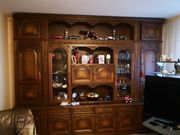 Wohnzimmer Schrankwand Massiv Zwei Teile
