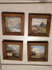 Original signierte kleine Ölbilder von