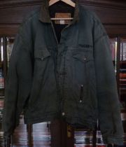Diesel Jeans-Jacke Gr XXL Grün