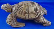 handgeschnitzte Schildkröte