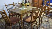 Esstisch Holz mit 6 Stühlen