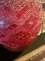 LAMPE aus Glas rot aus