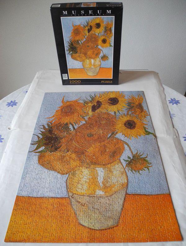Puzzle van Gogh Vase mit