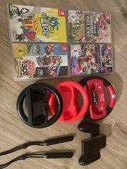 Nintendo Switch mit Spielen und