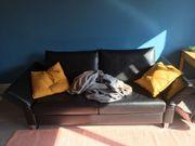 Schwarzes Leder Sofa Sofabett Die