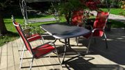 Gartenmöbel - Tisch 160x90cm klappbar grau