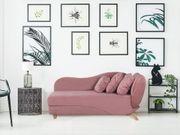 Chaiselongue rosa mit Bettkasten rechtsseitig