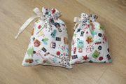 Geschenksäckchen 2-er Set Advent Nikolaus