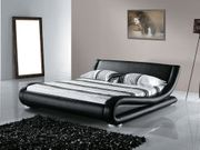 Lederbett schwarz Lattenrost 160 x