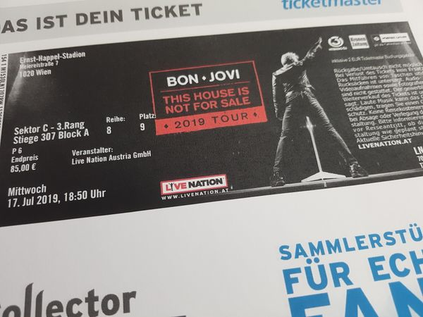 Konzertkarten Bon Jovi 17 7