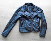 Jacke in Leder-Optik schwarz Gr