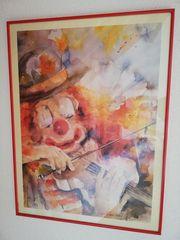 Clown mit Geige von Dan