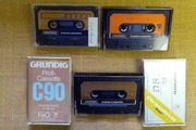 Grundig MC-Cassetten u versch Justiercassetten