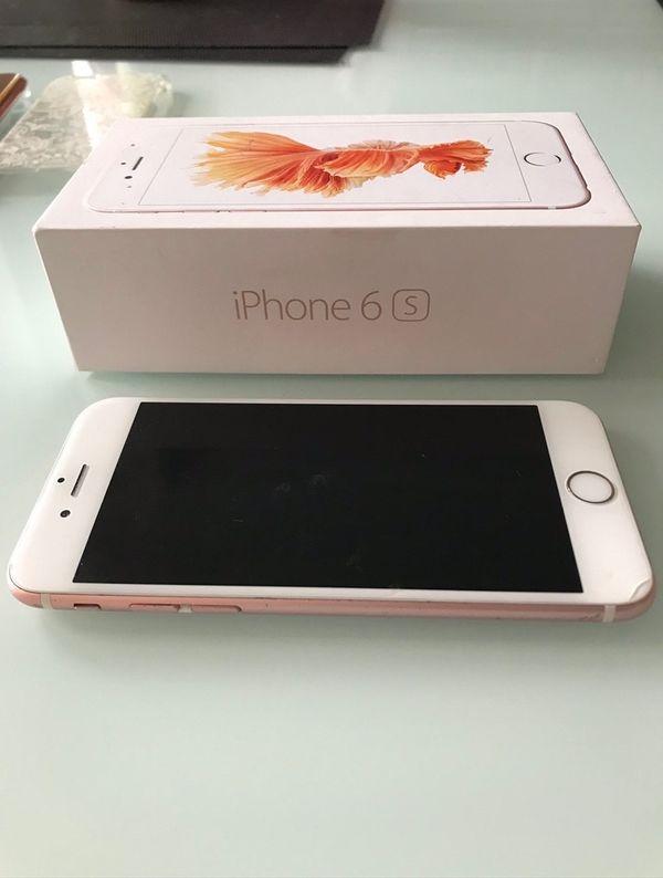 Iphone 6s in rosé gold
