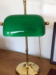 Berliner Messinglampe Tischleuchte Bankers Lamp
