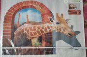 Wandbild- echte Giraffe Effekt