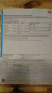 Fahrkarte Zug Bahn Ticket Dresden