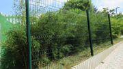 Gitterzaun Doppelstabmattenzaun Zaun Set Höhe